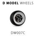 D MODEL 1/64用 ドレスアップパーツシリーズ Wheels No.7 (Silver/Black)