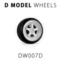 D MODEL 1/64用 ドレスアップパーツシリーズ Wheels No.7 (Silver/White)