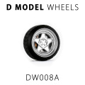 D MODEL 1/64用 ドレスアップパーツシリーズ Wheels No.8 (Silver)