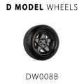 D MODEL 1/64用 ドレスアップパーツシリーズ Wheels No.8 (Black)