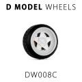D MODEL 1/64用 ドレスアップパーツシリーズ Wheels No.8 (White)