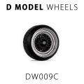 D MODEL 1/64用 ドレスアップパーツシリーズ Wheels No.9 (Silver/Black)