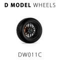 D MODEL 1/64用 ドレスアップパーツシリーズ Wheels No.11 (Black)