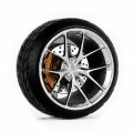 D MODEL 1/64用 ドレスアップパーツシリーズ Wheels No.12 (Siilver)
