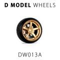[予約]D MODEL 1/64用 ドレスアップパーツシリーズ D Model Wheels No.13 (Gold)