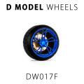 [予約]D MODEL 1/64用 ドレスアップパーツシリーズ D Model Wheels No.17 (Peeka Blue)