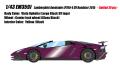 [予約]EIDOLON (アイドロン) 1/43 ランボルギー二 アヴェンタドール LP750-4 SV ロードスター 2015  ヴィオラオフェリア (ラージブラックSVロゴ) (限定30台 Limited 30 pcs)