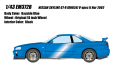 [予約]EIDOLON (アイドロン) 1/43 日産 スカイライン GT‐R (BNR34) V‐spec II Nur2002 ベイサイドブルー
