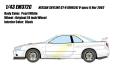[予約]EIDOLON (アイドロン) 1/43 日産 スカイライン GT‐R (BNR34) V‐spec II Nur2002 ホワイトパール