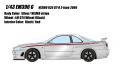 [予約]EIDOLON (アイドロン) 1/43 ニスモ R34 GT-R Z-tune シルバー/ NISMOストライプ