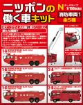 [予約]エフトイズ 1/150 ニッポンの働く車キット 消防車両1 全5種