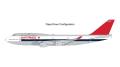[予約]Gemini Jets 1/200 747-400 ノースウエスト航空 N663US delivery livery; flaps down