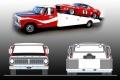 [予約]ACME 1/64 Allan Moffat Racing's フォード F-350 ランプトラック & Trans Am マスタング 1969