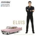 グリーンライト 1/64 キャデラック 1955 フリートウッドシリーズ60 「ピンクキャデラック」 & エルビス・プレスリー 1/18 フィギュア セット