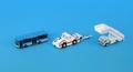 [予約]全日空商事 1/400 青バス・ステップカー・トーイングトラクターとトーバーのセット