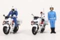 RAI'S (レイズ) 1/43 警察官フィギュア 交通取締自動二輪車 男性隊員 (2体セット)