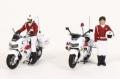 RAI'S (レイズ) 1/43 警察官フィギュア 交通取締自動二輪車 女性隊員 (2体セット)