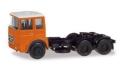 herpa Cars&Trucks 1/87 ローマン ディーゼル 6×2 リジッドトラクター オレンジ/ホワイト