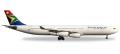 """[予約]herpa wings 1/500 A340-300 南アフリカ航空 ZS-SXF """"N. Mandela Day"""""""