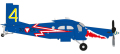 """[予約]herpa wings 1/72 ピラタス PC-6 オーストリア空軍 """"Blaue Elise"""" 3G-EK"""