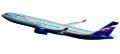 """[予約]herpa wings 1/200 A330-300 アエロフロート """"B. Pasternak"""" VQ-BCV ※プラスチック製、スナップフィット"""