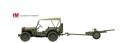 """[予約]ホビーマスター 1/72 ウィリスMBジープ&37対戦車砲 """"チュニジア 1943年"""""""