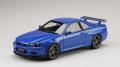ホビージャパン 1/18 日産 スカイライン GT-R V・スペック 1999 (BNR34) ベイサイドブルー (M)