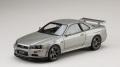 ホビージャパン 1/18 日産 スカイライン GT-R V・スペック 1999 (BNR34) ソニックシルバー(M)