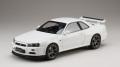 ホビージャパン 1/18 日産 スカイライン GT-R V・スペック 1999 (BNR34) ホワイト