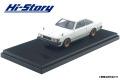 <宮沢模型限定>Hi-Story(ハイストーリー) 1/43 トヨタ カリーナ HARDTOP 2000GT (1980)改 ポロホワイト