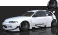ignition model(イグニッションモデル) 1/18 PANDEM CIVIC(EG6) White ★生産予定数:200pcs