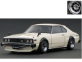 ignition model(イグニッションモデル) 1/18 日産 スカイライン 2000 GT-ES (C210) ホワイト ※Hayashi-Wheel ★生産予定数:180pcs