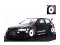 [予約]ignition model(イグニッションモデル) 1/43 PANDEM CIVIC (EG6) ブラック ★生産予定数:100pcs