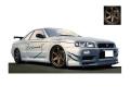[予約]ignition model(イグニッションモデル) 1/43 日産 スカイライン GT-R Mine's (R34) シルバー ★生産予定数:120pcs