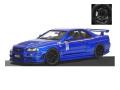 ignition model(イグニッションモデル) 1/18 ニスモ R34 GT-R R-tune ベイサイドブルー ★生産予定数:120pcs