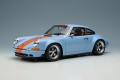 [予約]IDEA(イデア) 1/18 シンガー 911 (964) クーペ ガルフブルー (オレンジストライプ) ※限定120台、国内販売60台