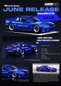 [予約]【お1人様5個まで】INNO Models(イノモデル) 1/64 Nissan シルビア S13 ROCKET BUNNY V2 ブルーM