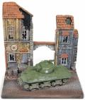 [予約]JOHNNY LIGHTNING(ジョニーライトニング) 1/64 M4A3 シャーマン戦車 WW II バストーニュの戦い(パネルジオラマ付)