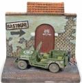 [予約]JOHNNY LIGHTNING(ジョニーライトニング) 1/64 Willys ジープ WW II バストーニュの戦い(パネルジオラマ付)