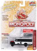 [予約]Johnny Lightning(ジョニーライトニング) 1/64 モノポリー シェビー スクールバス(ホワイト/ブラック) Token(モノポリー用 駒)付