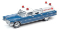 Johnny Lightning(ジョニーライトニング) 1/64 1966 キャディラック 救急車 ブルー