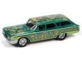 [予約]Johnny Lightning(ジョニーライトニング) 1/64 1960 フォード カントリー スクワイア ダークグリーン/ブルー Rat Fink