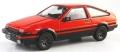 [予約]京商オリジナル 1/43 トヨタ スプリンター トレノ 8スポークホイール(AE86) レッド