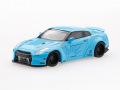 【お1人様5個まで】MINI GT 1/64 LB★WORKS 日産 GT-R R35 GTウイング ダックテール ライトブルー(右ハンドル)