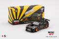 【お1人様5個まで】MINI GT 1/64 LB★WORKS Nissan GT-R R35 タイプ1 リアウイング バージョン 1+2 ブラック (左ハンドル)