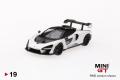 【お1人様3個まで】MINI GT 1/64 マクラーレン セナ ホワイト (右ハンドル)