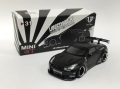【お1人様2個まで】MINI GT 1/64 LB★WORKS 日産 GT-R R35 タイプ1 リアウイング バージョン 1 マットブラック 北米限定