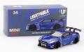 【お1人様2個まで】MINI GT 1/64 LB★WORKS 日産 GT-R R35 タイプ1 リアウイング バージョン 1 キャンディブルー 北米限定