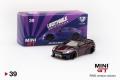 【お1人様5個まで】MINI GT 1/64 LB★WORKS 日産 GT-R (R35) タイプ1リアウイング バージョン1 マジックパープル (右ハンドル)