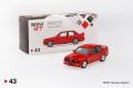 【お1人様5個まで】MINI GT 1/64 BMW M3(E30) ヘナレッド (右ハンドル)